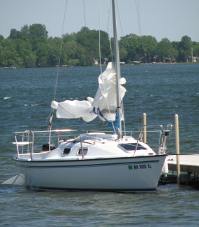 Our present sailboat at dockside