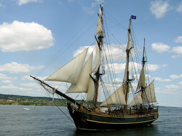 HMS Bounty during Parade of Sail by Amelia Watson