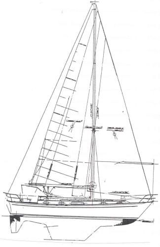 Passport 40 Sail Plan
