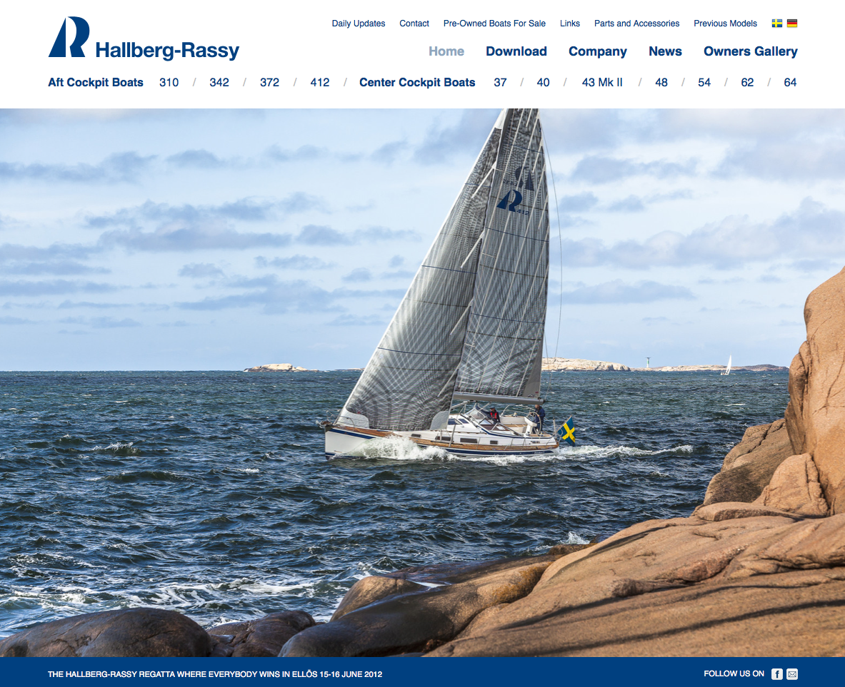 Hallberg-Rassy New Website-WOW!