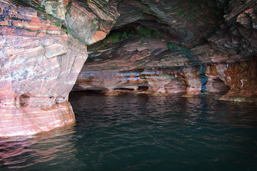 Inside another sea cave