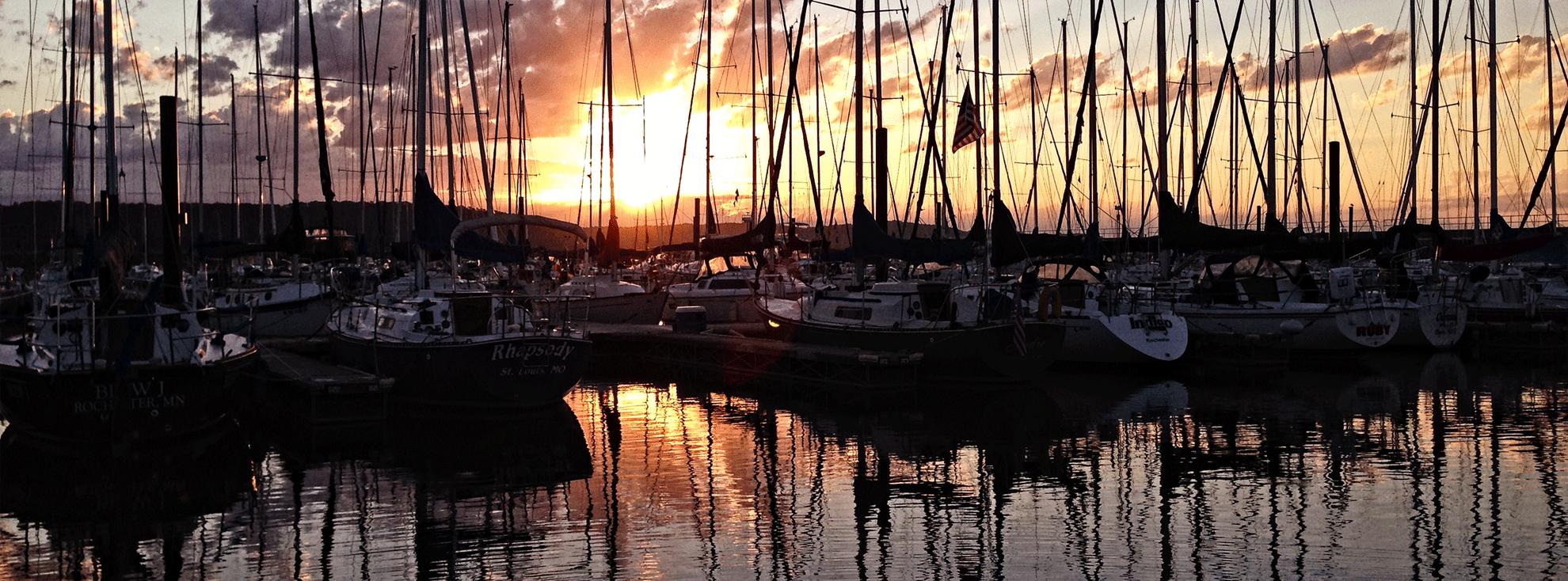 Lake City Marina Sunrise